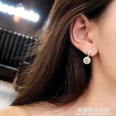 925純銀耳針角度欣賞水晶氣質時尚百搭韓國韓版耳釘耳環耳墜耳飾