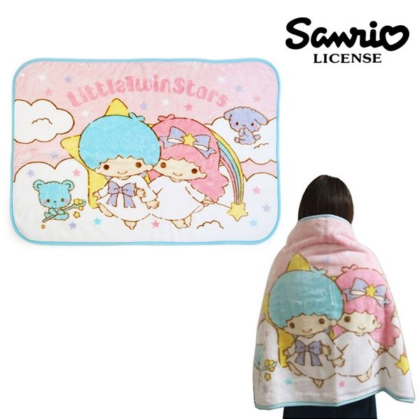 【正版授權】雙子星 披肩 毛毯 冷氣毯 小毯子 KIKILALA 三麗鷗 Sanrio - 341117