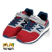 New Balance 996 紅灰色 魔鬼氈 運動鞋 中大童 NO.R3312