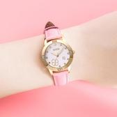 韓國初中生手錶女防水小學生女童可愛四葉草石英錶兒童手錶女孩  【快速出貨】