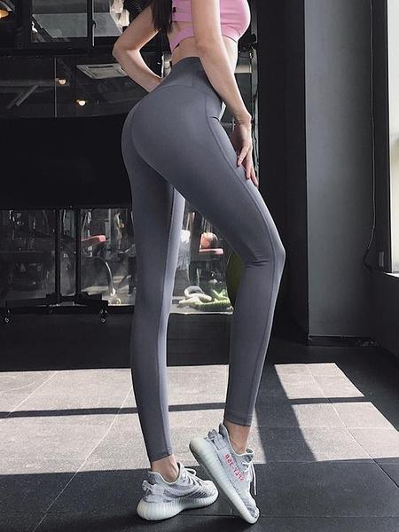蜜桃提臀高腰瑜伽褲女彈力緊身運動褲速干跑步健身長褲 小宅君