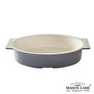 【MASON】BAKER LANE系列陶瓷橢圓把手烤盤33CM(淺灰)
