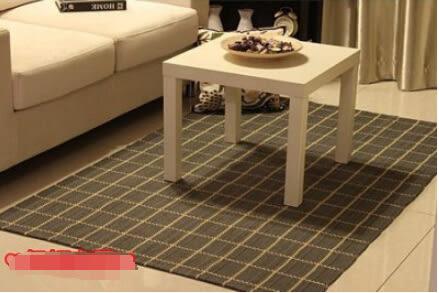 全棉地毯床前毯吸水可機洗120*180 cm【藍星居家】