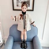 女童2019秋冬新款韓版兒童加厚呢子外套小女孩洋氣冬裝潮【免運】