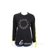 Karl Lagerfeld SNAP 撞色羅緞織帶細節黑色棉質運動衫 1930208-01