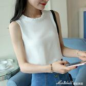 雪紡吊帶背心女夏季外穿韓版學生短款bf寬鬆百搭無袖內搭打底衫   蜜拉貝爾