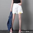 五分牛仔短褲女高腰寬鬆2020新款白色外穿潮ins顯瘦a字闊腿5分夏 618購物節