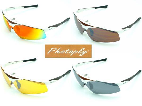 我愛買#台灣PHOTOPLY鏡片適MLB大聯盟運動太陽眼鏡(防IR/防藍光/夜用/變色/抗寶麗萊偏光POL鏡片)