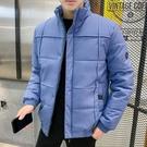 夾克外套羽絨服 純色外套加厚男生外套 潮流男士外套 羽絨外套韓版外套 麵包服棉服男士棉衣