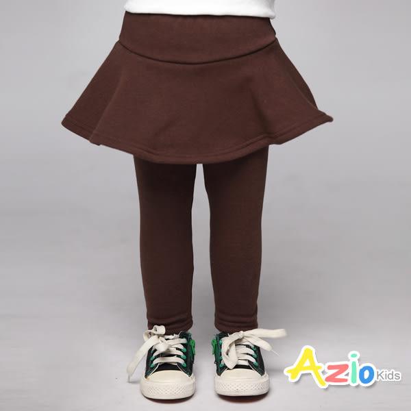《美國派 童裝》內搭褲裙 不倒絨傘襬內搭褲裙(咖啡)