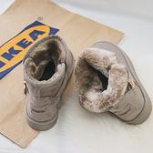 雪靴女短筒2019新款時尚冬季短靴子女冬加絨一腳蹬平底加厚棉鞋