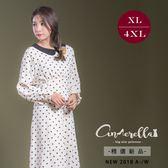 大碼仙杜拉-中大尺碼 點點高收腰修飾身型俏皮洋裝XL-4XL碼 ❤【USC8737】(預購)