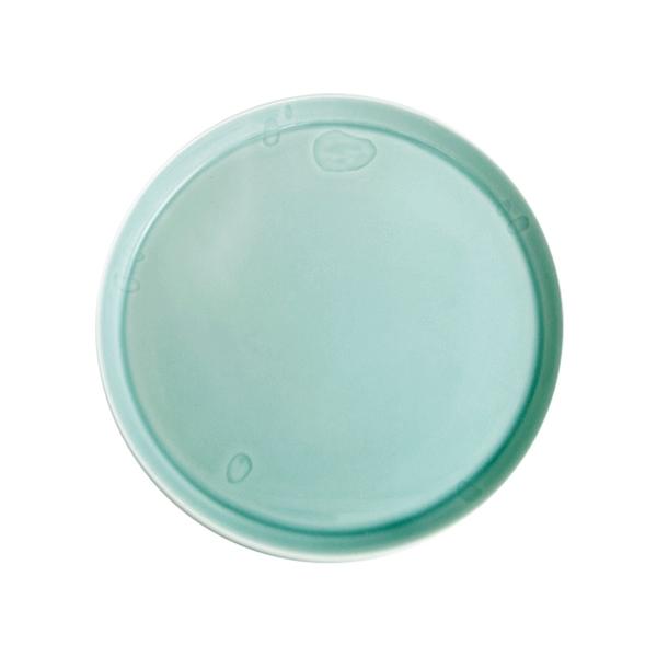 安達窯 青瓷 藕遇圓盤-大