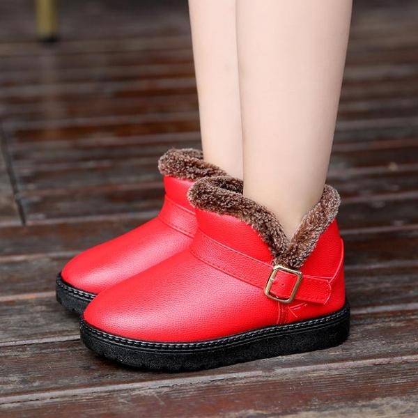 雪靴 兒童雪地靴冬季女童短靴男童保暖棉鞋防水寶寶冬鞋中小童靴子   夏季新品