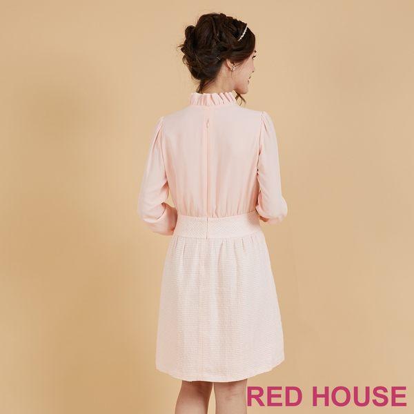 RED HOUSE-蕾赫斯-荷葉小立領洋裝(粉色)
