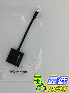 [美國直購] Cable Matters 101001-BLACK Gold Plated Mini DisplayPort to HDMI Male to Female Adapter 適配器