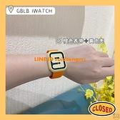 適用蘋果手表6表帶配鋼化膜殼/百搭硅膠apple watchSE/4/5iwatch3