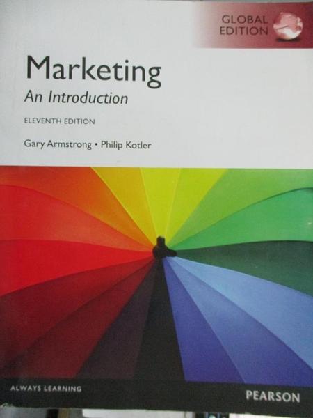 【書寶二手書T2/大學商學_XBE】Marketing: An Introduction_Armstrong
