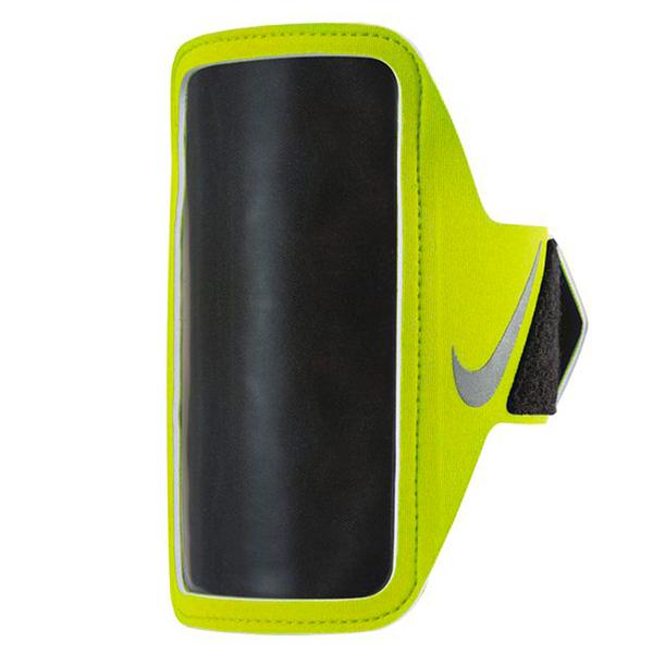 Nike Lean Arm Band [NRN65719OS] 運動 慢跑 自行車 輕量 手機 臂包 5吋 綠 銀