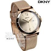 DKNY 紐約佳人 都會腕錶 女錶 金屬金 真皮錶帶 NY2372 防水手錶