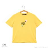 【INI】刺繡甜美、精緻舒適休閒上衣.黃色