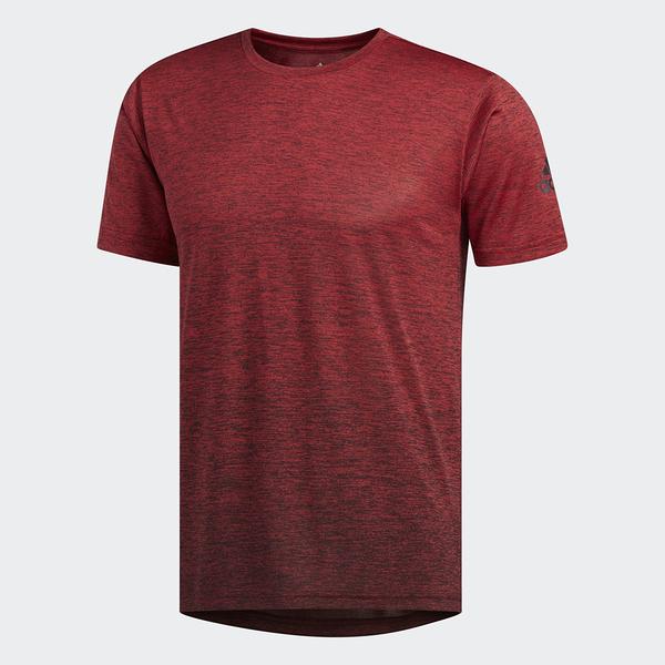 L-adidas FREELIFT GRADIENT 排汗衫 吸濕排汗 短袖T恤 男款 紅色 EC1090