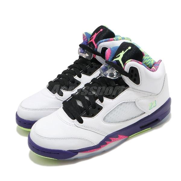 Nike Air Jordan 5 Retro GS Alternate Bel-Air 白 彩色 女鞋 新鮮王子 鴛鴦 AJ5 喬丹 籃球鞋【ACS】 DB3024-100