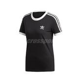 adidas 短袖T恤 3-Stripes Tee 黑 白 女款 運動休閒 短T 【PUMP306】 ED7482