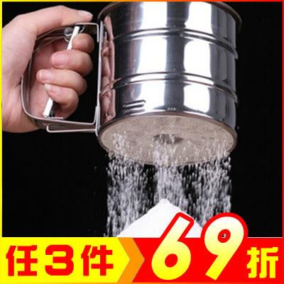 手壓杯式麵粉糖粉篩子 麵粉篩杯 烘焙工具【AP02005】聖誕節交換禮物 99愛買生活百貨