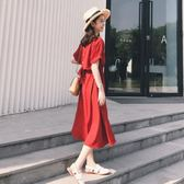 夏裝2019新款顯瘦適合胯大腿粗大碼雪紡氣質連身裙子胖mm女裝微胖