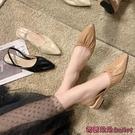穆勒鞋 涼鞋女中跟女鞋新款正韓夏季時尚百搭包頭套腳法式穆勒鞋-Ballet朵朵