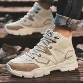 馬丁靴 馬丁靴男冬季高筒潮鞋英倫風工裝靴男鞋秋季中筒男士雪地沙漠短靴 果寶時尚
