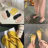促銷韓版chic人字拖女夏平底外穿軟底防滑夾腳趾涼拖鞋海邊沙灘鞋ins 宜室