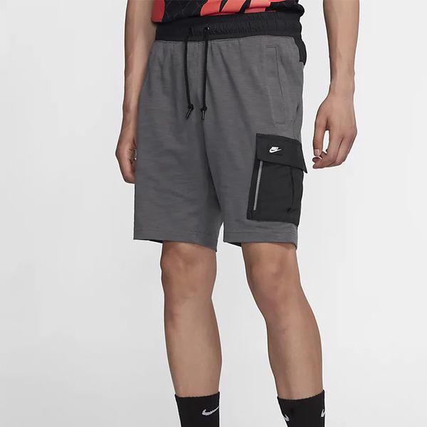NIKE Sportswear 男裝 短褲 休閒 柔軟 純棉 多口袋 灰 【運動世界】 BV3117-021
