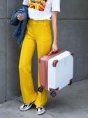 輕便行李箱女士小型登機箱萬向輪拉桿旅行密碼箱小號男18寸韓版  蘑菇街小屋 ATF