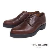 ★零碼出清★Tino Bellini 義大利進口中性品味真皮尖楦綁帶皮鞋(深咖)_TF4302 ★2016AW 歐洲進口款★