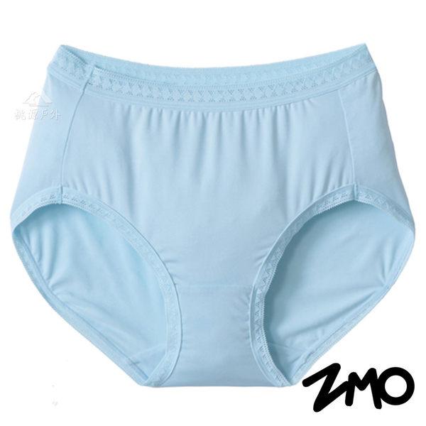 【 ZMO 】淑女高腰內褲『水藍』US176 女生.運動內褲.排汗內褲.透氣.彈性.親膚.柔軟.台灣製造
