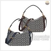 COACH SHAY 金字LOGO雙C印花帆布搭配牛皮拉鍊斜背手提包 (小/多色)