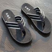 男士人字拖夏季個性沙灘鞋耐磨防滑透氣學生夾腳涼拖鞋男