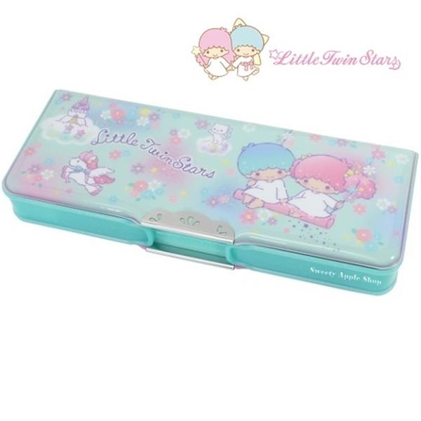 日本限定 三麗鷗 KIKILALA 雙子星 獨角獸 小花版 雙面 筆盒 / 鉛筆盒