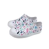 native JEFFERSON PRINT 懶人鞋 洞洞鞋 白 彩色幾何 小童 童鞋 15100101-8965 no041