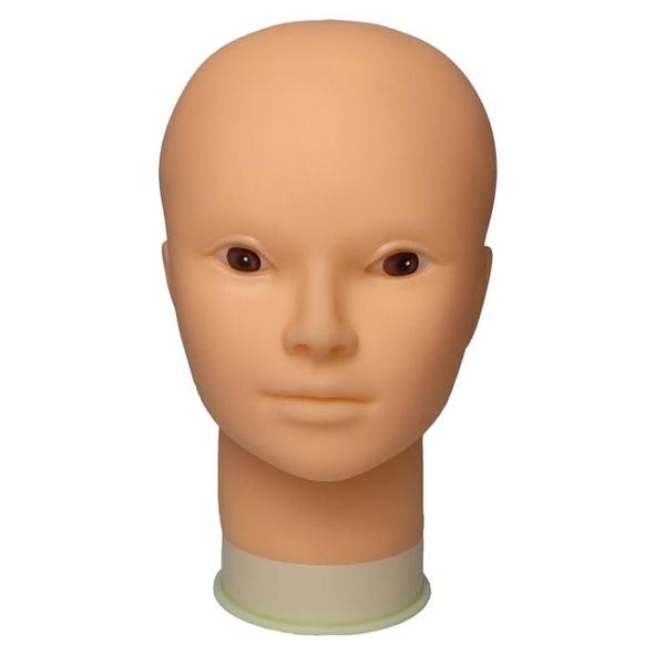 人頭模具 假髮模特頭假人頭支架公仔頭模型具軟質口罩展示化妝頭模美容練習 城市科技