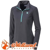 【Wildland 荒野 女款 雙色輕量保暖上衣 黑】0A32601/保暖上衣/長袖上衣/保暖上衣