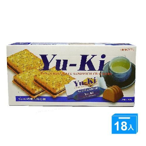 YUKI巧克力夾心餅150g*18【愛買】