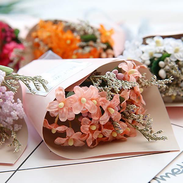 【BlueCat】第二代粉紅紙筒BEST WISH迷你手工乾燥花小花束 (紙盒裝)