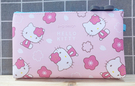 【震撼精品百貨】Hello Kitty 凱蒂貓~Hello Kitty日本SANRIO三麗鷗KITTY化妝包/筆袋-矽膠櫻花粉*78116