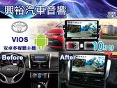 【專車專款】 14~17年TOYOTA VIOS 專用10.1吋觸控螢幕安卓多媒體主機*藍芽+導航+安卓