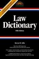 二手書博民逛書店《Law Dictionary: Trade Edition》 R2Y ISBN:0764119974