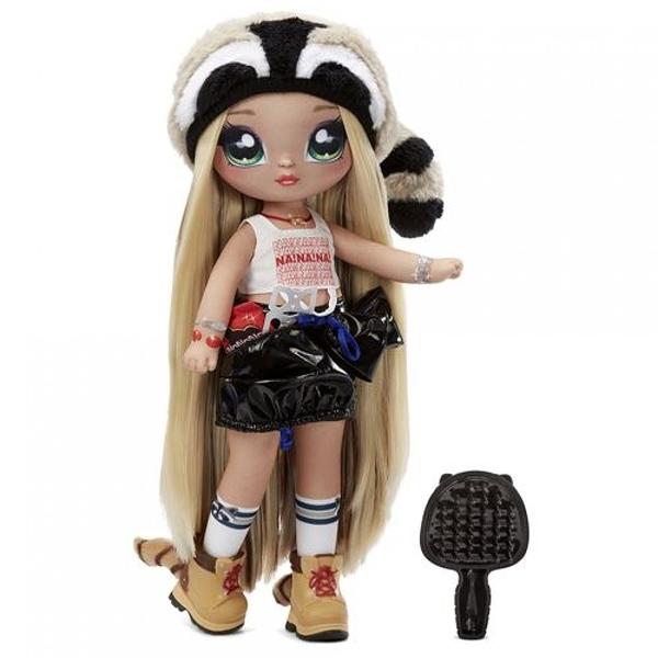《 MGA Entertainment 》Na!Na!Na!砰砰驚喜11吋娃娃 - Gretchen Stripes(浣熊) / JOYBUS玩具百貨