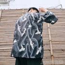 日式仙鶴羽織防曬衣七分袖復古浮世繪改良中國風道袍和服開襟男女 簡而美